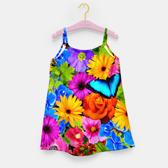 Miniatur Colorful Kawaii Flower and Butterfly Girl's dress, Live Heroes