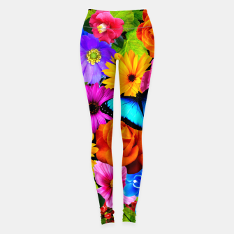 Miniatur Colorful Kawaii Flower and Butterfly Leggings, Live Heroes