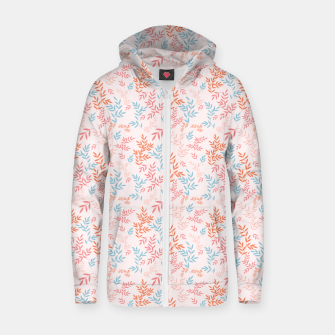 Thumbnail image of Fall Floral Pattern Zip up hoodie, Live Heroes