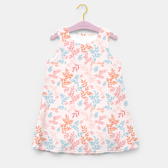 Thumbnail image of Fall Floral Pattern Girl's summer dress, Live Heroes
