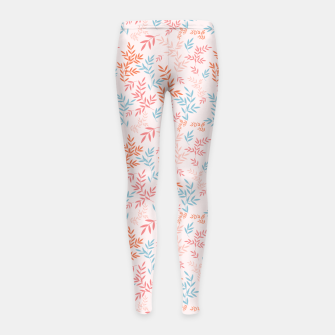 Thumbnail image of Fall Floral Pattern Girl's leggings, Live Heroes
