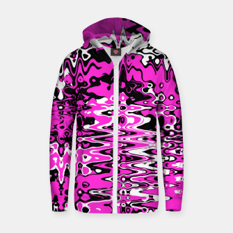 Thumbnail image of Cyber pink zipped hoody, Live Heroes