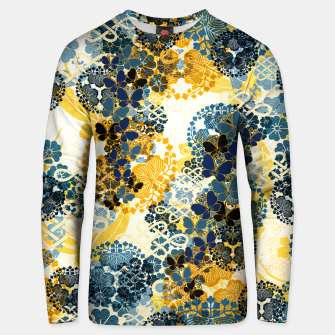 Miniatur Japanese Kimono pattern design flower and Butterfly Unisex sweater, Live Heroes