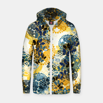 Miniatur Japanese Kimono pattern design flower and Butterfly Zip up hoodie, Live Heroes