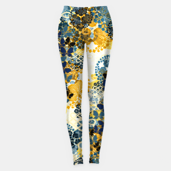 Thumbnail image of Japanese Kimono pattern design flower and Butterfly Leggings, Live Heroes