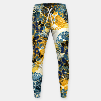 Thumbnail image of Japanese Kimono pattern design flower and Butterfly Sweatpants, Live Heroes