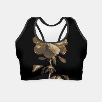 Thumbnail image of Beauty Dark Rose Poster Crop Top, Live Heroes