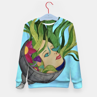 Thumbnail image of Face in the Vines Kid's sweater, Live Heroes