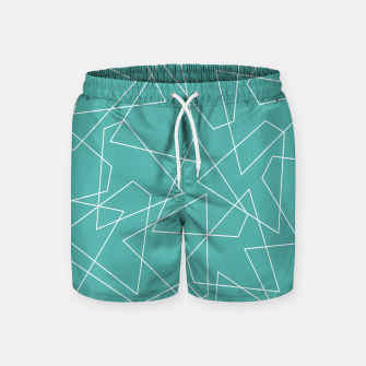 Thumbnail image of Abstract geometric pattern - blue and white. Swim Shorts, Live Heroes
