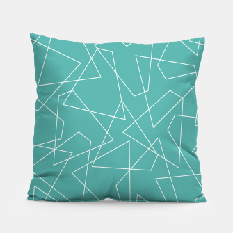 Thumbnail image of Abstract geometric pattern - blue and white. Pillow, Live Heroes