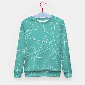 Thumbnail image of Abstract geometric pattern - blue and white. Kid's sweater, Live Heroes