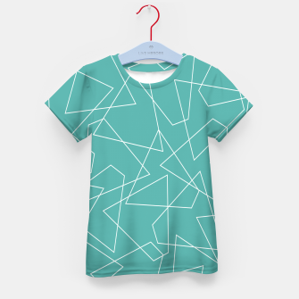 Thumbnail image of Abstract geometric pattern - blue and white. Kid's t-shirt, Live Heroes