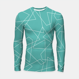 Thumbnail image of Abstract geometric pattern - blue and white. Longsleeve rashguard , Live Heroes