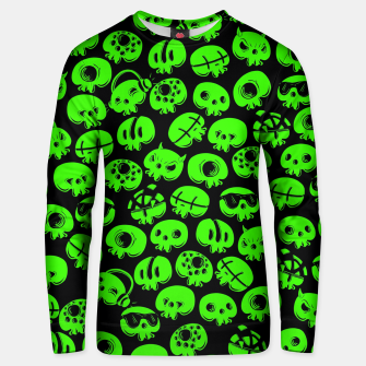 Thumbnail image of Just green skulls Unisex sweater, Live Heroes