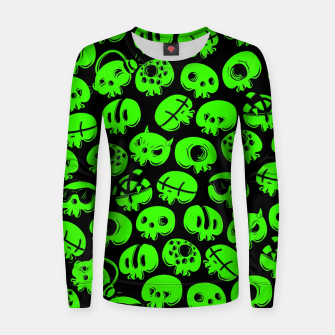 Thumbnail image of Just green skulls Women sweater, Live Heroes