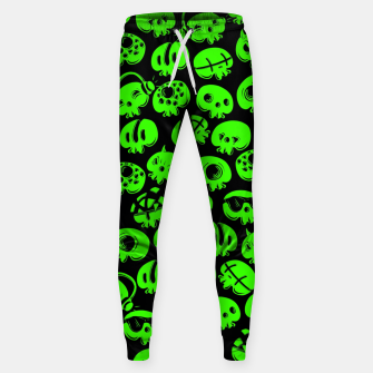 Thumbnail image of Just green skulls Sweatpants, Live Heroes