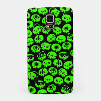 Thumbnail image of Just green skulls Samsung Case, Live Heroes