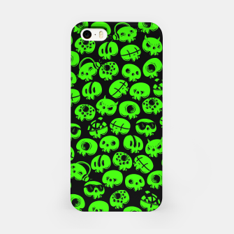 Thumbnail image of Just green skulls iPhone Case, Live Heroes