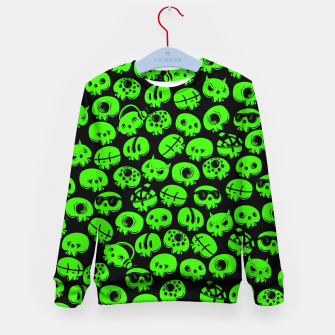 Thumbnail image of Just green skulls Kid's sweater, Live Heroes