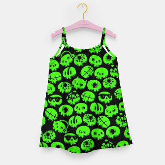 Thumbnail image of Just green skulls Girl's dress, Live Heroes