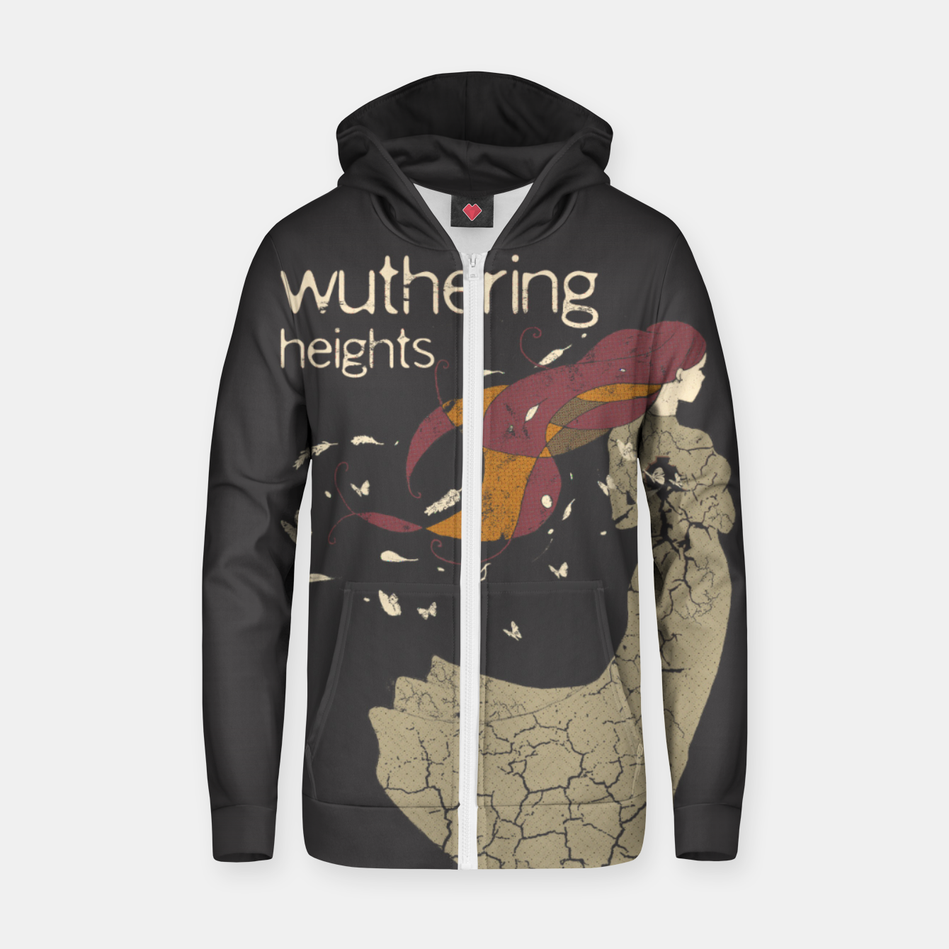 Foto Books Collection: Wuthering Heights Sudadera con capucha y cremallera  - Live Heroes