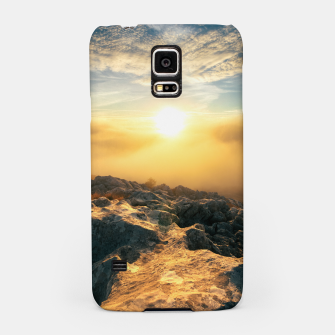 Thumbnail image of Amazing sunset above clouds and sun lit rocks Samsung Case, Live Heroes
