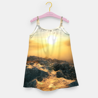 Thumbnail image of Amazing sunset above clouds and sun lit rocks Girl's dress, Live Heroes