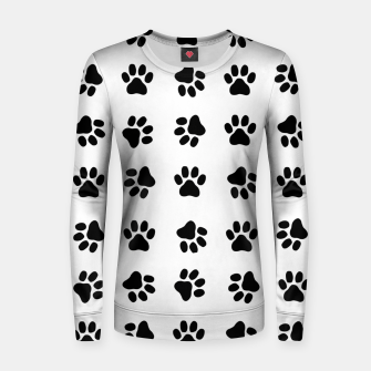Thumbnail image of Paw Print Black Women sweater, Live Heroes