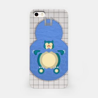 Thumbnail image of Snorlaxing in the Pool iPhone Case, Live Heroes