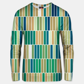 Miniature de image de Bookshelves, abstract illusrtation of vertical bars Unisex sweater, Live Heroes