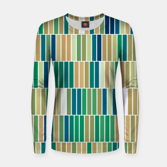 Miniatur Bookshelves, abstract illusrtation of vertical bars Women sweater, Live Heroes