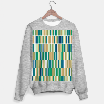 Miniatur Bookshelves, abstract illusrtation of vertical bars Sweater regular, Live Heroes