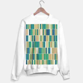 Thumbnail image of Bookshelves, abstract illusrtation of vertical bars Sweater regular, Live Heroes