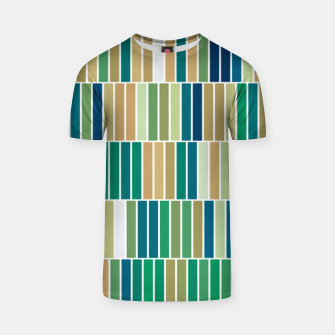 Thumbnail image of Bookshelves, abstract illusrtation of vertical bars T-shirt, Live Heroes
