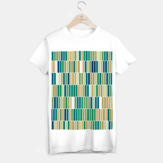 Miniature de image de Bookshelves, abstract illusrtation of vertical bars T-shirt regular, Live Heroes