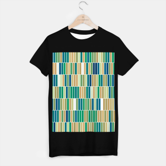 Thumbnail image of Bookshelves, abstract illusrtation of vertical bars T-shirt regular, Live Heroes