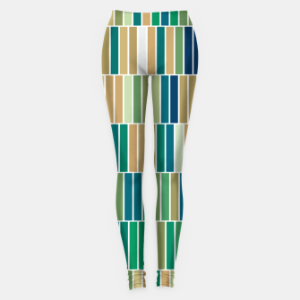 Thumbnail image of Bookshelves, abstract illusrtation of vertical bars Leggings, Live Heroes