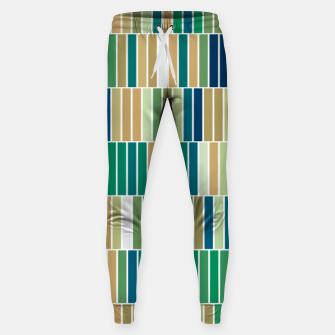 Thumbnail image of Bookshelves, abstract illusrtation of vertical bars Sweatpants, Live Heroes
