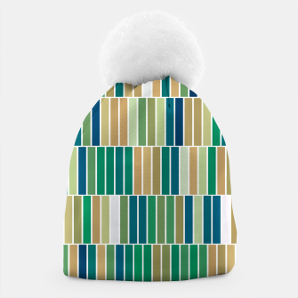 Miniature de image de Bookshelves, abstract illusrtation of vertical bars Beanie, Live Heroes
