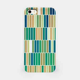 Thumbnail image of Bookshelves, abstract illusrtation of vertical bars iPhone Case, Live Heroes