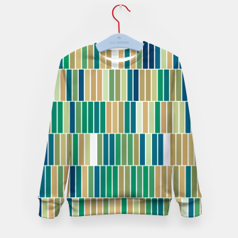 Thumbnail image of Bookshelves, abstract illusrtation of vertical bars Kid's sweater, Live Heroes