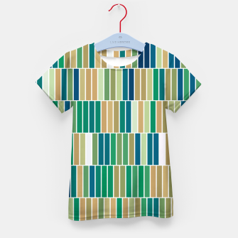 Thumbnail image of Bookshelves, abstract illusrtation of vertical bars Kid's t-shirt, Live Heroes