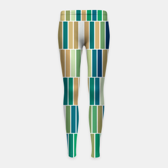 Thumbnail image of Bookshelves, abstract illusrtation of vertical bars Girl's leggings, Live Heroes