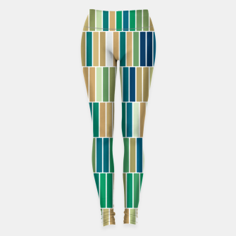 Miniature de image de Bookshelves, abstract illusrtation of vertical bars Leggings, Live Heroes