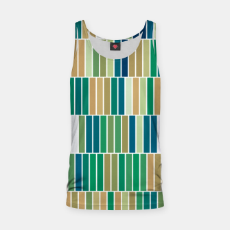 Thumbnail image of Bookshelves, abstract illusrtation of vertical bars Tank Top, Live Heroes