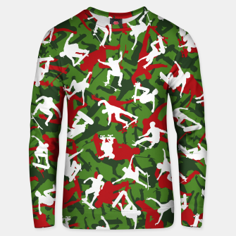 Thumbnail image of Skater Camo XMAS Unisex sweater, Live Heroes