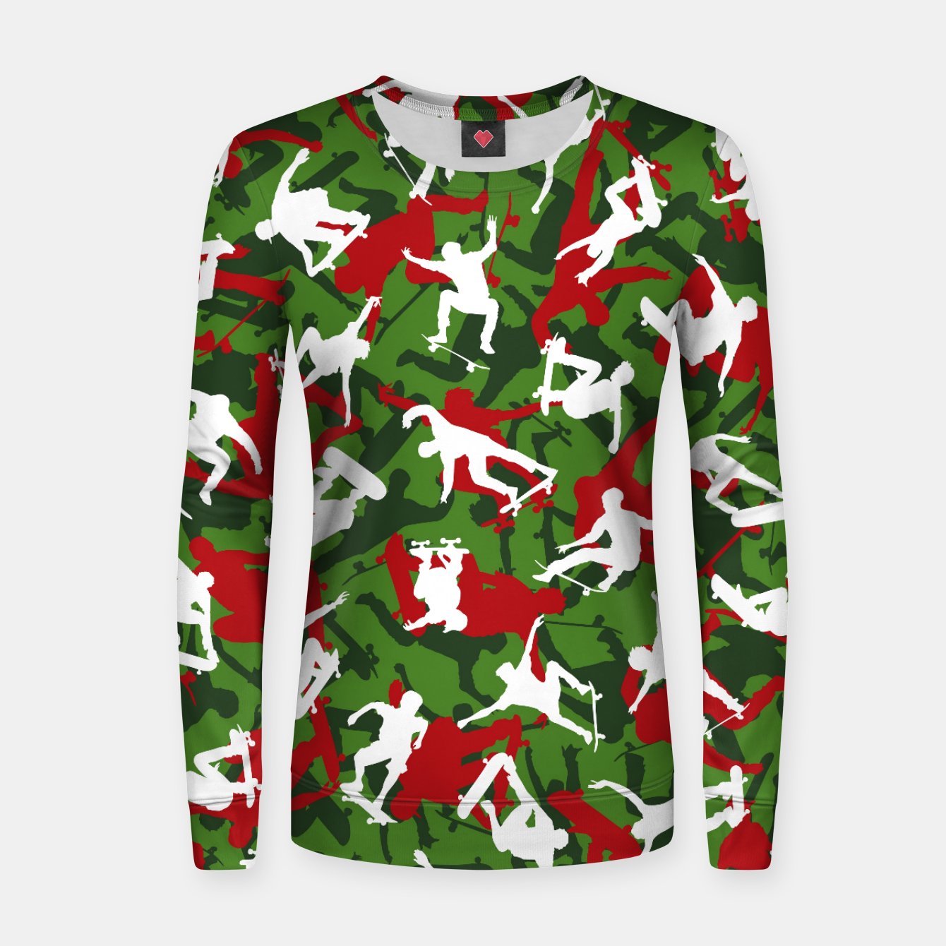 Image of Skater Camo XMAS Women sweater - Live Heroes