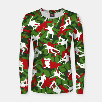 Thumbnail image of Skater Camo XMAS Women sweater, Live Heroes