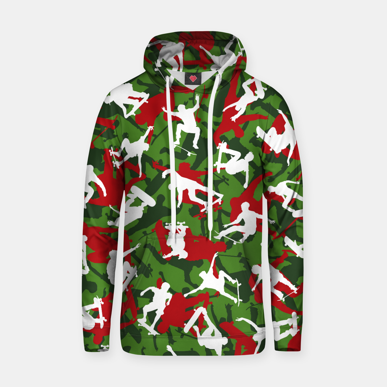 Image of Skater Camo XMAS Hoodie - Live Heroes