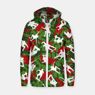 Thumbnail image of Skater Camo XMAS Zip up hoodie, Live Heroes